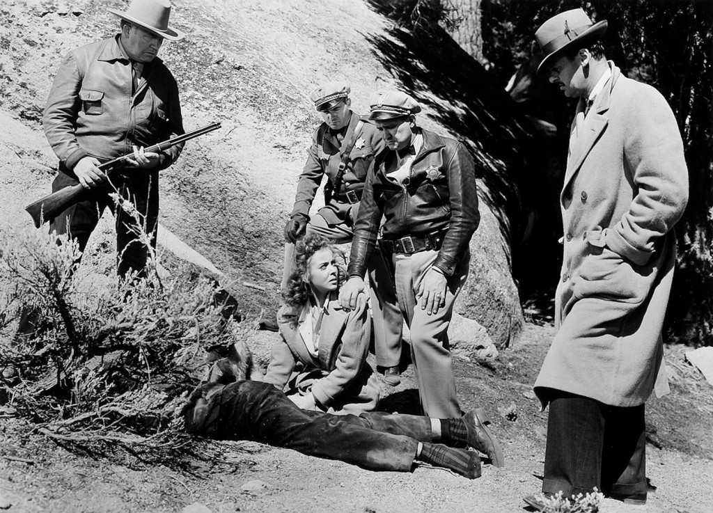 Ida Lupino in the finale of High Sierra (Raoul Walsh, 1941).